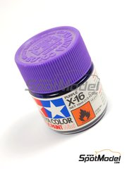 Tamiya: Pintura acrílica - Color Purpura X-16 Purple - 1 x 10ml
