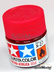 Tamiya: Acrylic paint - Clear Red X-27 - 1 x 10ml