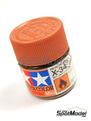 Tamiya: Pintura acrílica - Color Marron metalizado X-34 Metallic Brown - 1 x 10ml