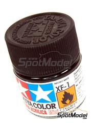 Tamiya: Acrylic paint - Flat Black XF-1 - 1 x 10ml