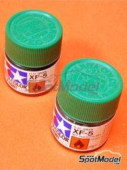Tamiya: Acrylic paint - Flat Green XF-5 - 1 x 10ml