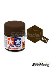 Tamiya: Pintura acrílica - Marrón mate - XF-10 - Flat brown - 1 x 10ml