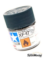 Tamiya: Acrylic paint - Sea blue XF-17 - 1 x 10ml