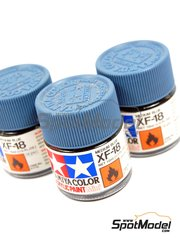 Tamiya: Pintura acrílica - Azul medio XF-18 Medium blue - 1 x 10ml