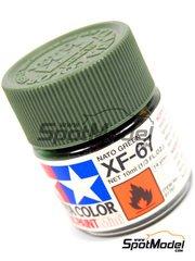 Tamiya: Acrylic paint - Nato Green XF-67 - 1 x 10ml