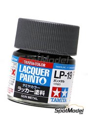 Tamiya: Lacquer paint - Gun metal LP-19 - 1 x 10ml