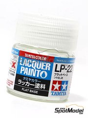 Tamiya: Lacquer paint - Flat base LP-22 - 1 x 10ml