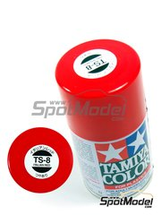 Tamiya: Spray - Rojo Italiano Brillante TS-8 Gloss Italian Red