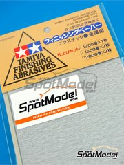 Tamiya: Sandpaper - Finishing abrasives - Ultra fine set - 1 x 1200 - 2 x 1500 - 2 x 2000