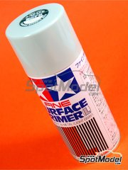 Tamiya: Imprimación - Spray de imprimación fina Color Gris Claro - Fine Surface Primer Light Grey - 180 ml