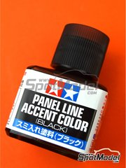 Tamiya: Paint -  Panel line accent color black - 1 x 40ml