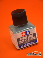 Tamiya: Pintura -  Panel line accent color gris