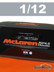 Tamiya: Model car kit 1/12 scale - McLaren Honda MP4/6 Shell #1, 2 - Ayrton Senna (BR), Gerhard Berger (AT) - FIA Formula 1 World Championship 1991 - plastic model kit