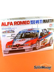 Tamiya: Model car kit 1/24 scale - Alfa Romeo 155 V6 TI Martini #5, 6 - Nicola Larini (IT), Alessandro Nannini (IT) - DTM 1996 - plastic parts, water slide decals and assembly instructions image