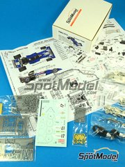 This Way Up: Model car kit 1/43 scale - Surtees TS9B Rob Walker #17 - Mike Hailwood (GB) - South African Grand Prix 1972 - photo-etched parts, turned metal parts, water slide decals, white metal parts and assembly instructions