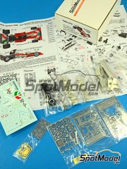 This Way Up: Model car kit 1/43 scale - Surtees TS9B Ceramica Pagnossin #26 - Andrea de Adamich (IT) - Spanish Formula 1 Grand Prix 1972 - photo-etched parts, turned metal parts, water slide decals, white metal parts and assembly instructions image