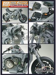 Top Studio: Detail up set 1/12 scale - Honda RC211V 2006 - for Tamiya references TAM14106, 14106, TAM14107, 14107, TAM14108 and 14108