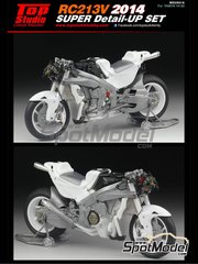 Top Studio: Detail up set 1/12 scale - Honda RC213V 2014 - photo-etched parts, resin parts, turned metal parts, other materials and assembly instructions - for Tamiya references TAM14130 and 14130