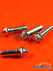 Top Studio: Nuts 1/24 scale - Wheel nuts - CNC metal parts - 4 units