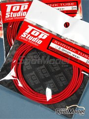 Top Studio: Tubo - Tubo termoretractil 2.0mm x 2 m - Color rojo - otros materiales