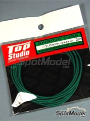 Top Studio: Tubo - Tubo termoretractil 2.0mm x 2 m - Color verde - otros materiales