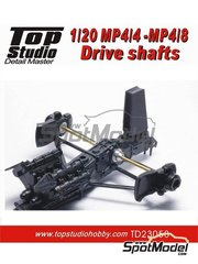 Top Studio: Detail 1/20 scale - McLaren Honda MP4/8 - MP4/4 Drive Shafts - photo-etched parts, turned metal parts and assembly instructions