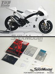 Top Studio: Detail up set 1/12 scale - Yamaha YZR-M1 2009 - photo-etched parts, metal parts and resins - for Studio27 reference ST27-DC820, or Tamiya references TAM14117, 14117, TAM14120 and 14120