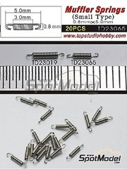 Top Studio: Detail - Muffler Springs - Small Type - metal parts - 20 units