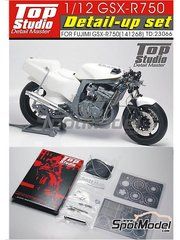 Top Studio: Detail up set 1/12 scale - Suzuki GSX-R750  - metal parts and photo-etched parts - for Fujimi kit FJ141268