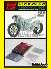 Top Studio: Detail 1/12 scale - Honda RS250RW - for Hasegawa kit