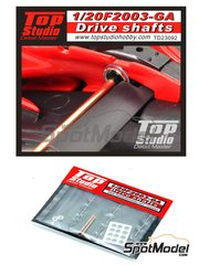 Top Studio: Drive shafts 1/20 scale - Ferrari F2003-G3 - metal parts and photo-etched parts - for Fujimi reference FJ090863