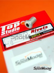 Top Studio: Remaches - Remaches de 0.7mm - piezas de metal torneado