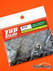 Top Studio: Detail 1/24 scale - Shock Absorber - Set III - metal parts and turned metal parts