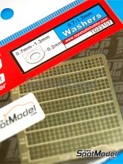 Top Studio: Detail - Washers 0.7mm to 1.3mm - photo-etched parts