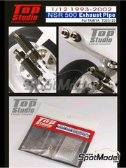 Top Studio: Exhaust 1/12 scale - Honda NSR500 - Motorcycle World Championship 1993, 1994, 1995, 1996, 1997, 1998, 1999, 2000, 2001 and 2002 - metal parts and photo-etch - for Tamiya kits