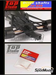 Top Studio: Detail 1/20 scale - RB Racing Renault RB6 - Drive shafts - metal parts - for Tamiya reference TAM20067
