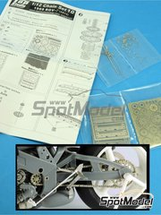 Top Studio: Chain set 1/12 scale - Suzuki RGV-G XR74 - metal parts, photo-etched parts, turned metal parts and assembly instructions - for Fujimi references FJ141435 and FJ141510