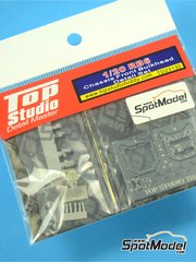 Top Studio: Detail up set 1/20 scale - RB Racing Renault RB6 chassis front - metal parts, resins, photo-etched parts - for Tamiya kit TAM20067
