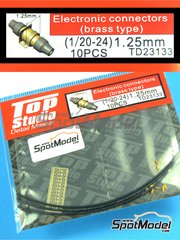 Top Studio: Detail 1/20 scale - Electrical connectors - metal, tube, photo-etch - 10 units