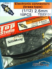 Top Studio: Detail 1/12 scale - Electronic connectors - photo-etch, metal parts - 10 units