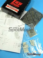 Top Studio: Detail up set 1/20 scale - McLaren MP4/5B Cockpit - resins, photo-etched parts, fabric, metal parts - for Tamiya references TAM89720 and TAM92209