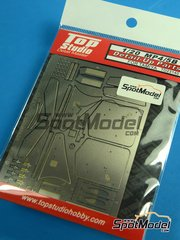 Top Studio: Photo-etched parts 1/20 scale - McLaren Honda MP4/5B - photo-etched parts - for Tamiya references TAM89720, 89720, TAM92209 and 92209