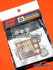 Top Studio: Clutch 1/12 scale - Honda NS500 / NSR500 1983, 1984, 1985, 1986, 1987, 1988 and 1989 - photo-etched parts, resin parts and assembly instructions - for Tamiya references TAM14032, TAM14050 and TAM14125