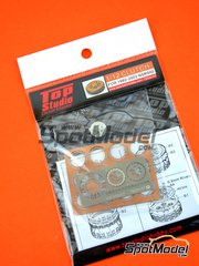 Top Studio: Clutch 1/12 scale - Honda NSR500 1992, 1993, 1994, 1995, 1996, 1997, 1998, 1999, 2000, 2001 and 2002 - photo-etched parts, resin parts, turned metal parts and assembly instructions