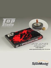 Top Studio: Brakes 1/12 scale - McLaren Honda MP4/6 - CNC metal parts, assembly instructions, photo-etched parts and turned metal parts - for Tamiya references TAM89721 and 89721