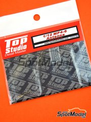 Top Studio: Antenna 1/12 scale - McLaren Honda MP4/6 - photo-etched parts, turned metal parts, other materials and assembly instructions - for Tamiya kits TAM12028, TAM49571 and TAM89721