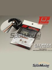 Top Studio: Drive shafts 1/12 scale - McLaren Honda MP4/6 - photo-etched parts, turned metal parts and assembly instructions - for Tamiya reference TAM89721