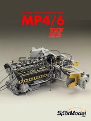 Top Studio: Detail up set 1/12 scale - McLaren Honda MP4/6 - for Tamiya reference TAM89721
