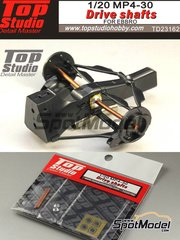 Top Studio: Drive shafts 1/20 scale - McLaren Honda MP4/30 - photo-etched parts, metal parts - for Ebbro kits EBR20013, EBR20014 and EBR20015