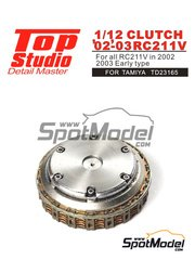 Top Studio: Clutch 1/12 scale - Honda RC211V 2002 and 2003 - photo-etched parts, resin parts and assembly instructions - for Tamiya references TAM14092 and TAM14095